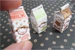 Kawaii Miniature Milk Cartons