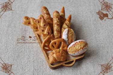 Scale 1:12 Miniature Assorted Bread