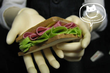 Scale 1:3 Ham n Cheese Sandwich