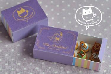 Scale 1:12 Miniature Alice Cupcake Box 1