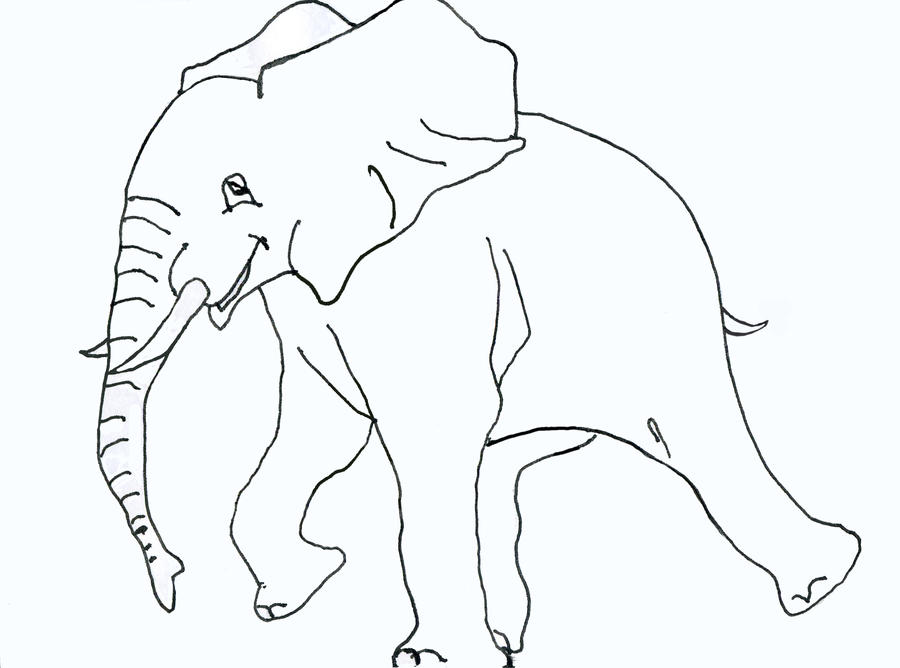 Line Drawing Elephant : Elephant lineart by thestarscream on deviantart