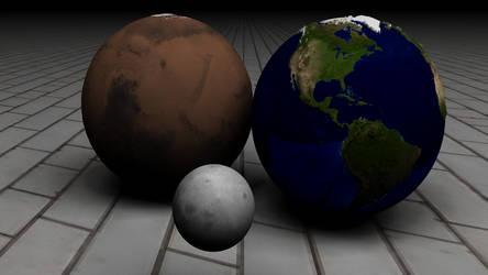 Earth Mars Moon