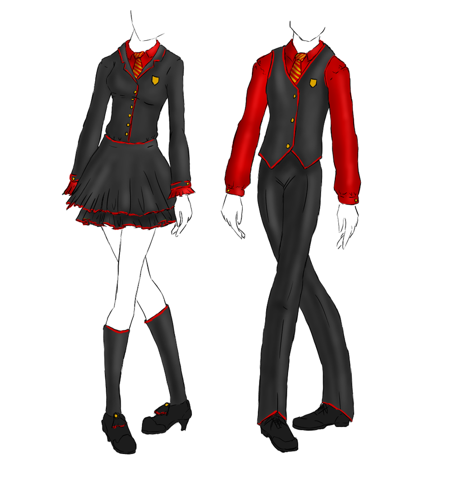 Uniform: Gryffindor by KaoticDragonFlyer