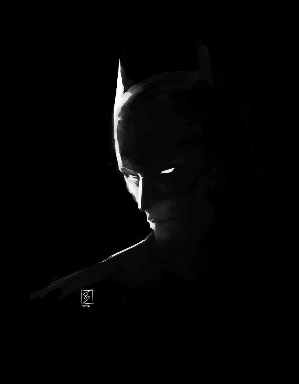 Batman black and white by art2ditotoo