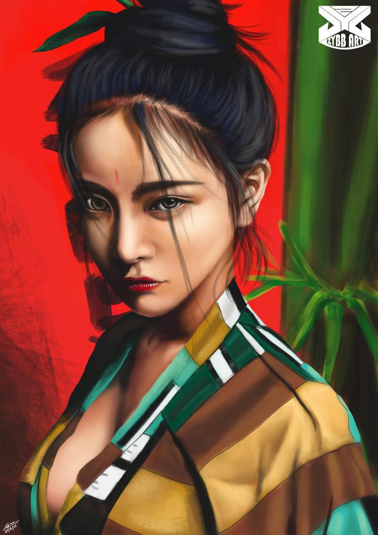 Japanese Geisha by zybbniewan