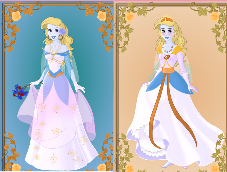 smurfettes wedding dress which looks better by