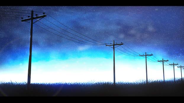 scenery anime sky