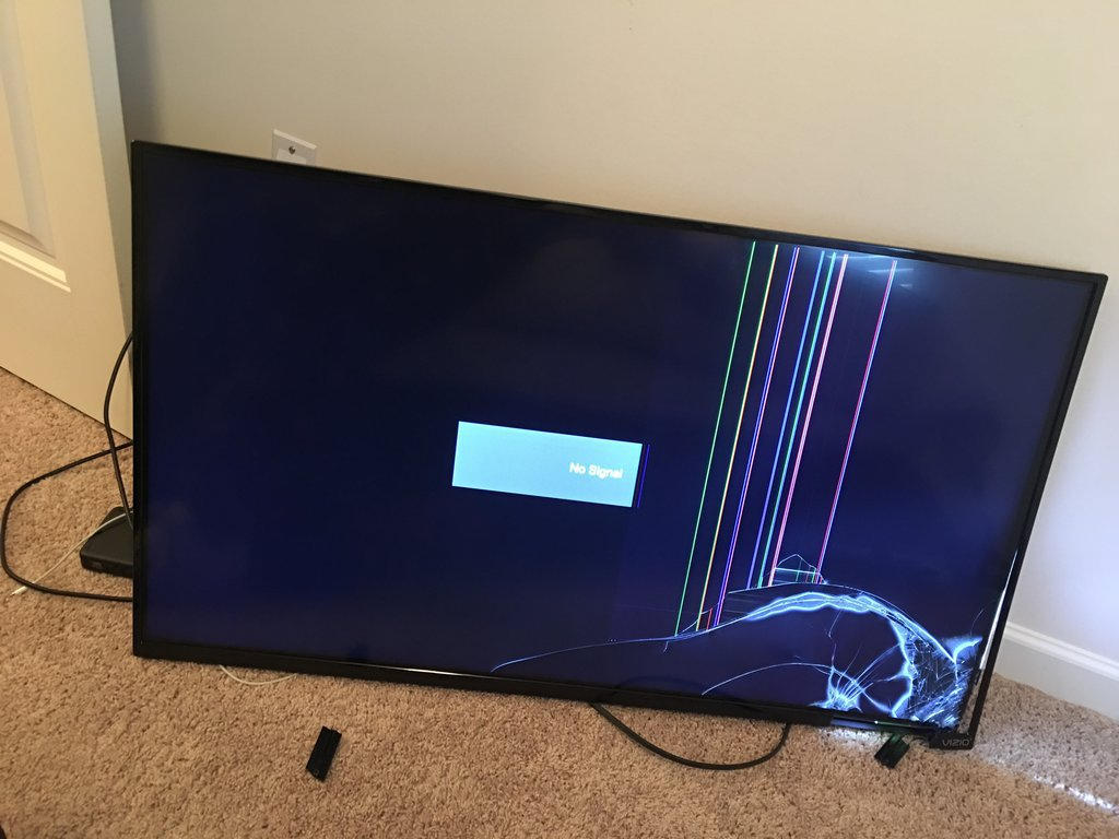 GUESS WHOS TV FELL  by Mining-Turtlez
