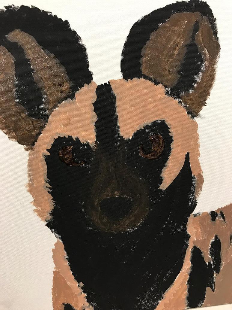 African wild dog wip 1 by Mining-Turtlez
