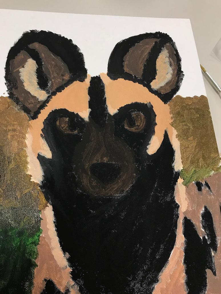 African wild dog wip 2 by Mining-Turtlez