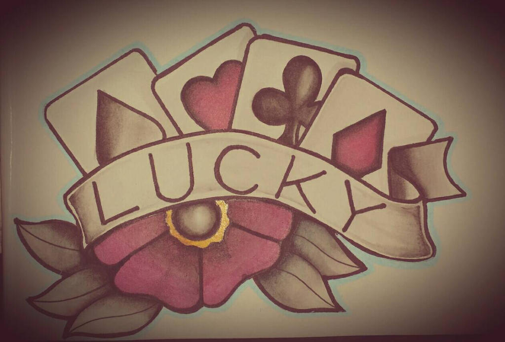 c626cfced9a4d Lucky! Traditional tattoo flash. by IJoshLawson on DeviantArt