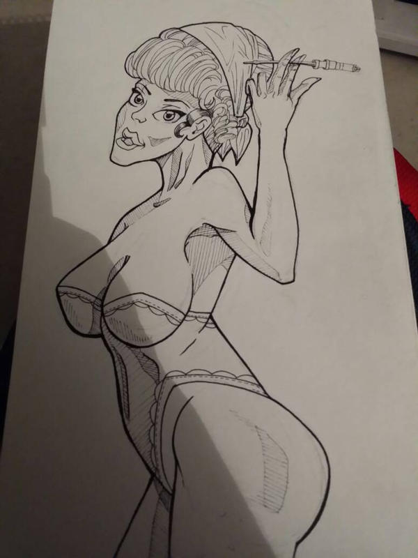 50s Pin Up by IJoshLawson