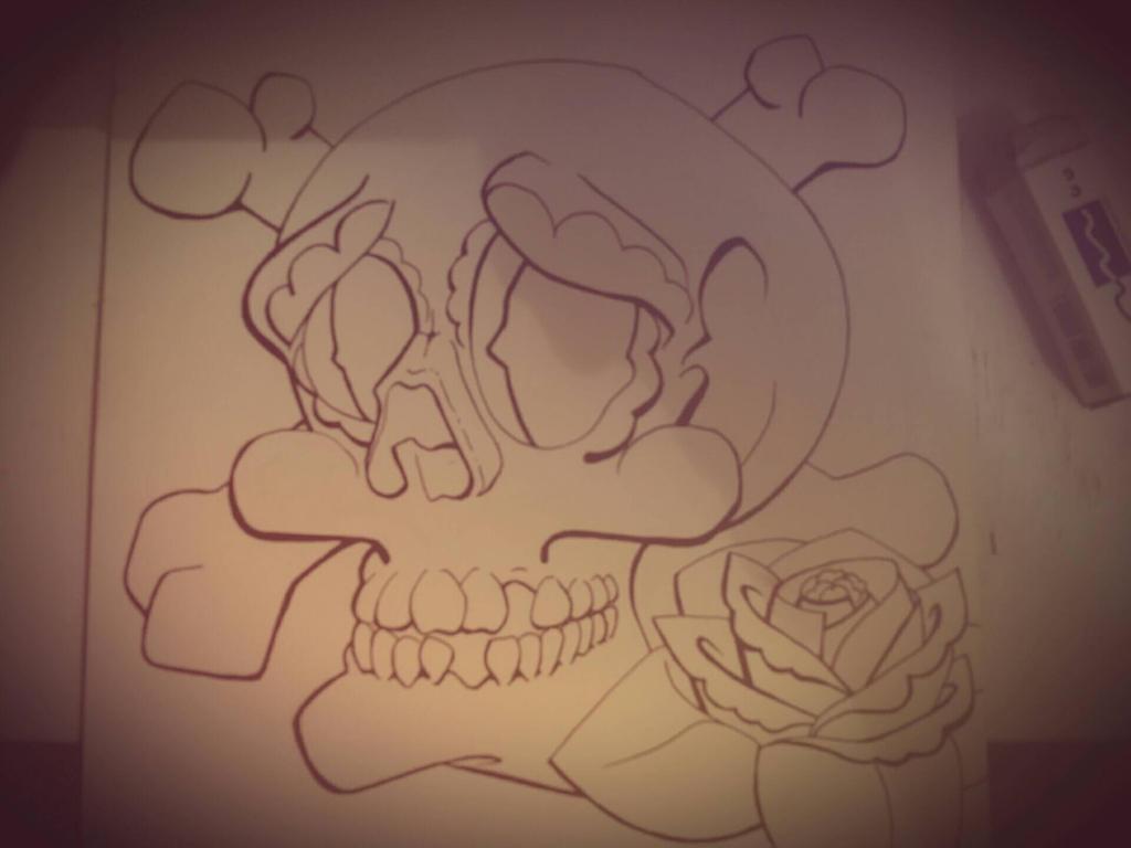 Traditional Sugar Skull Flash by IJoshLawson