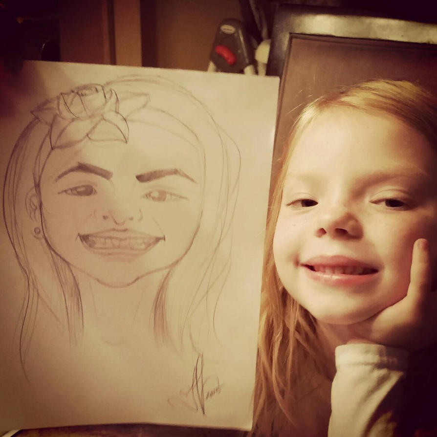 Caricature of My Niece - Pencil - WIP by IJoshLawson