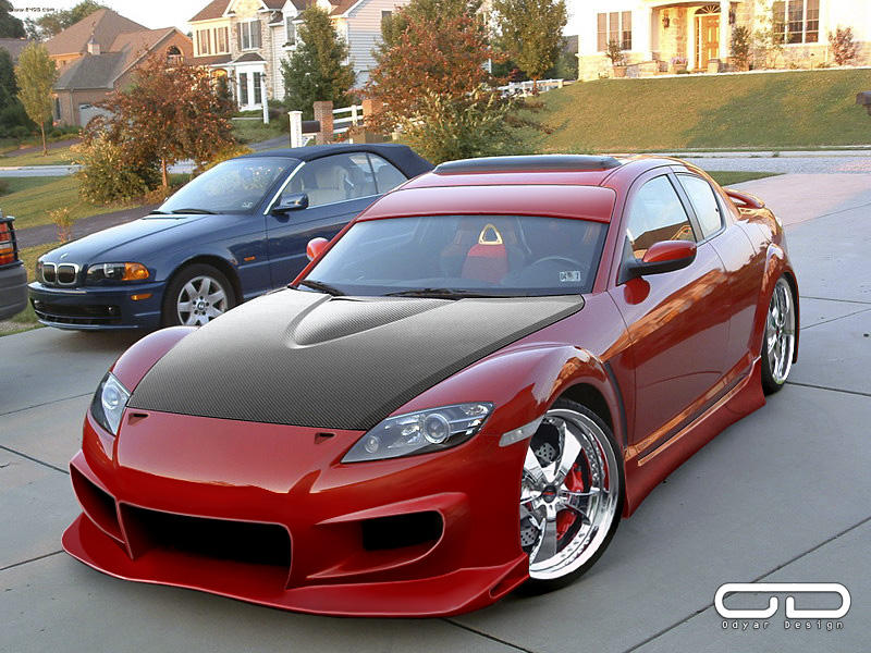 mazda rx8 modified red. mazda rx8 for classicclub by odyar rx8 modified red r