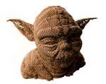 DIY Yoda from corrugated cardboard