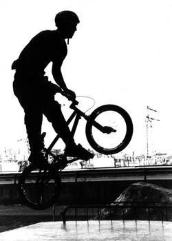 Black and white BMX backlight