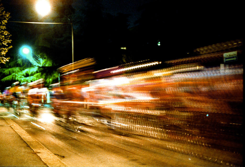 Nightly bicycle  race by rotellaro