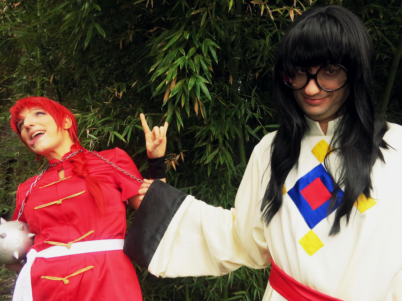 Ranma and Mousse by rotellaro