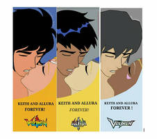 Different Voltron versions - One True Pairing.  by cubbieberry