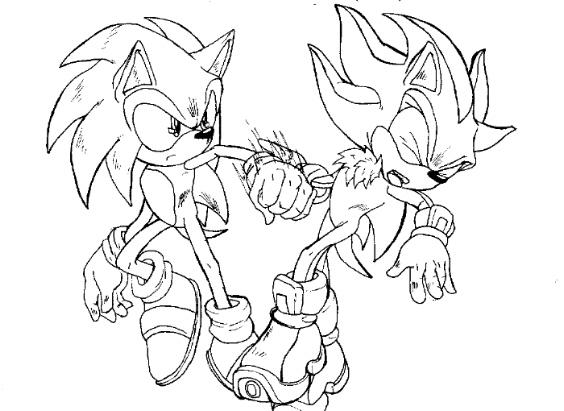 Sonic vs Shadow by CPC on DeviantArt