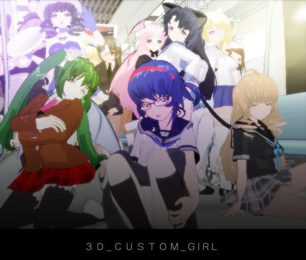 3D Custom Girl Game by MMD3DCG
