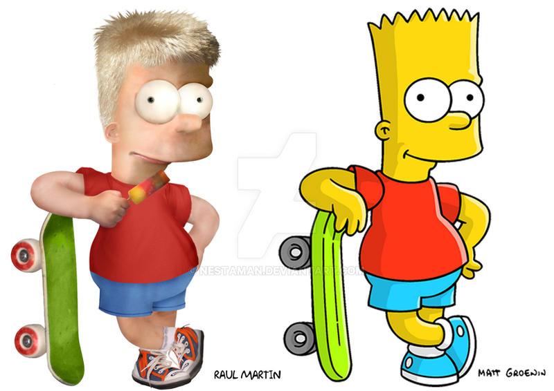 Bart Simpson real cartoon by Nestaman