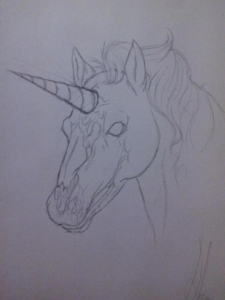 zombie unicorn by hiyorisarugaki12