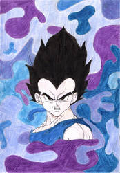 Prince-Vegeta colored by Zinny-chan