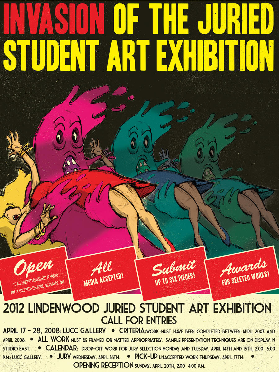 Invasion of the Juried Student Art Exhibition by charliegaines