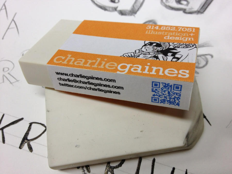 self promo eraser by charliegaines