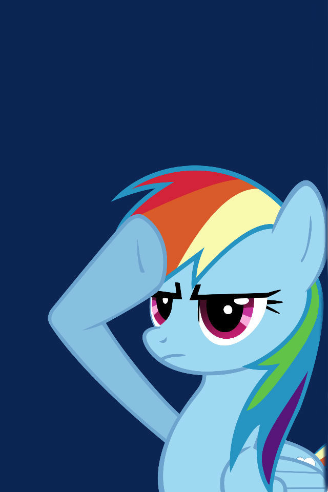 Yes Sir Rainbow Dash! (Iphone Wallpaper) by Elke1131 on ...