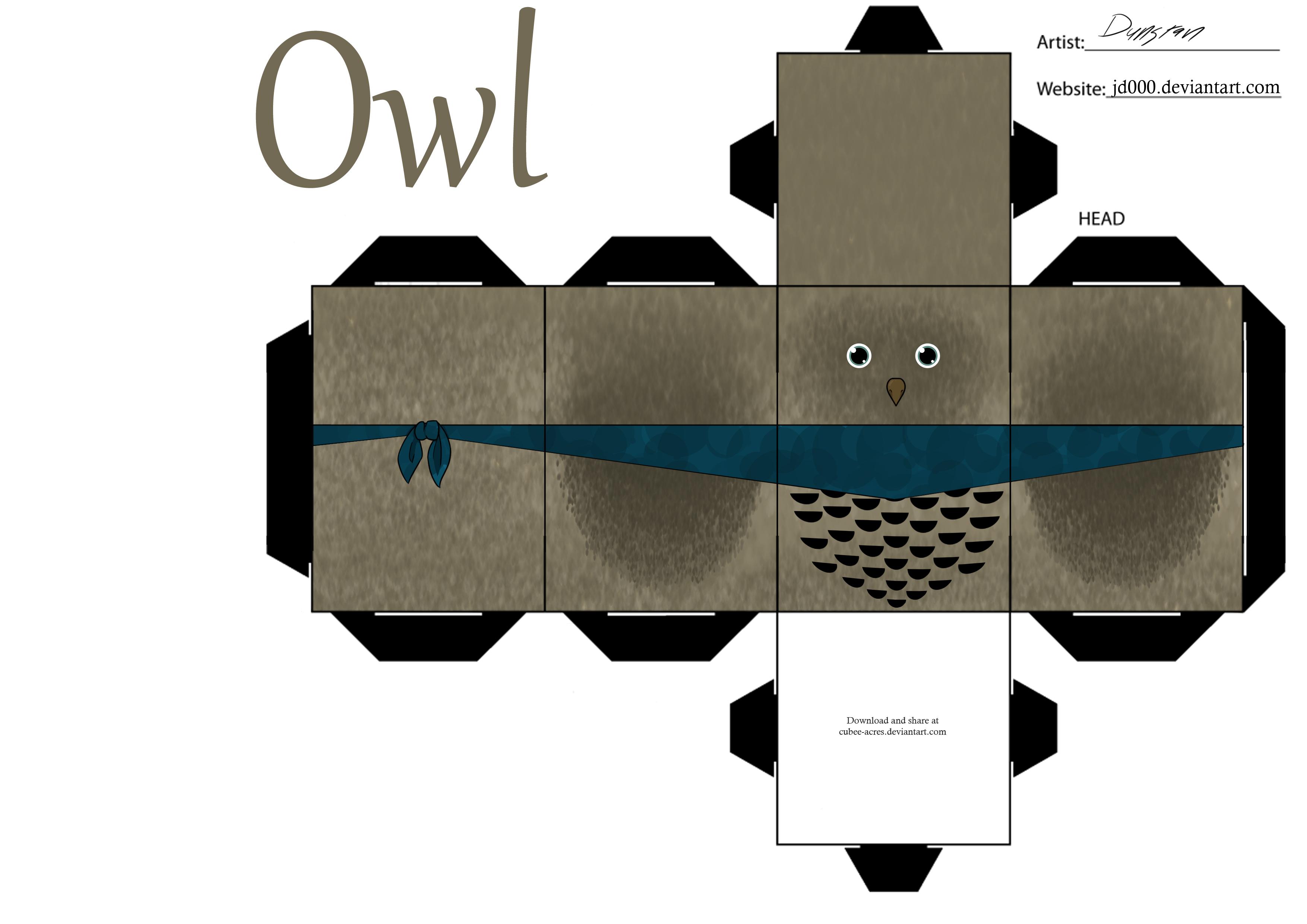 paper craft new 991 papercraft owl template