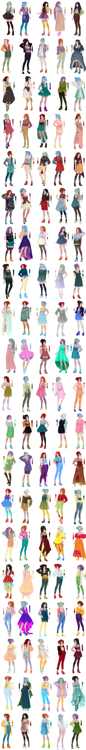 100 palette challenge - outfits by SeikoVanM