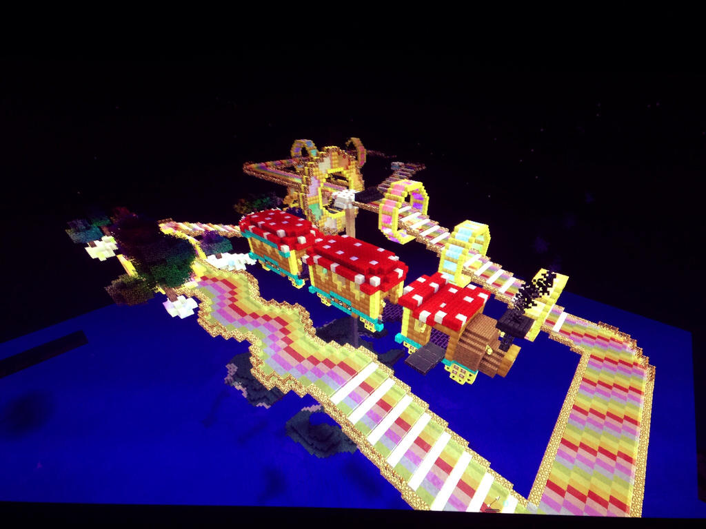 My own Rainbow Road in Minecraft by KimShadow