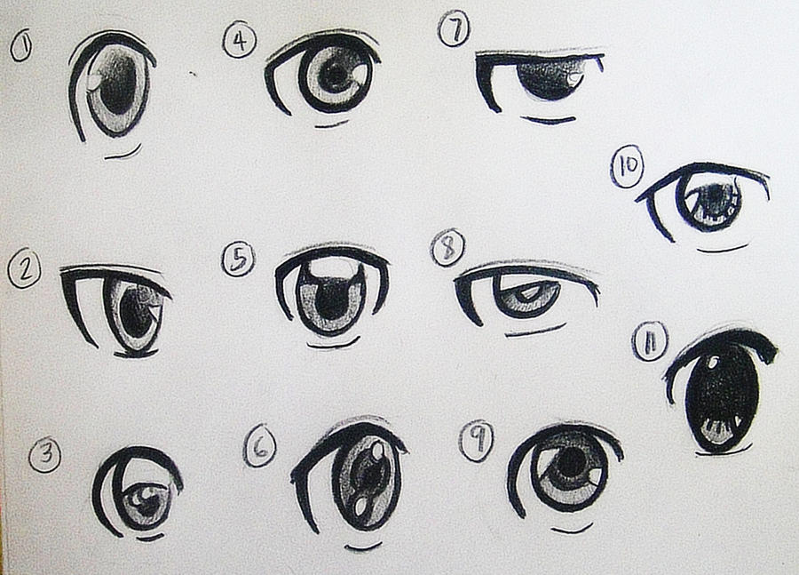 how to draw anime eyes fearce girl eyes