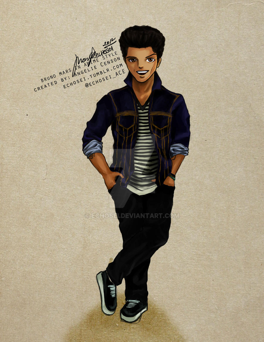 bruno mars in anime manga style by echosei on deviantart