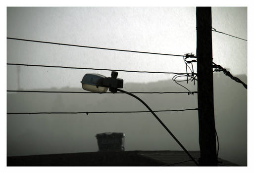 Lamp in the rain