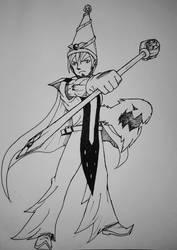 Earth/Dragon mage character design