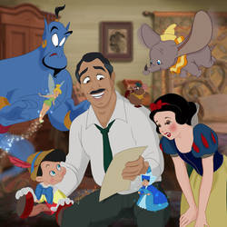 Walt Disney and his characters