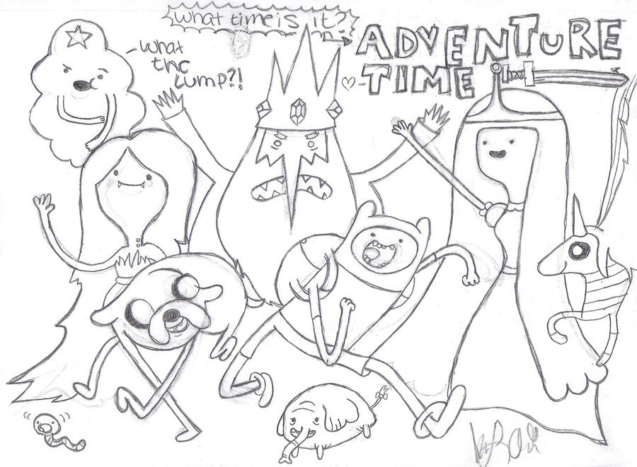 The Adventure Time Gang By THEgurlONfire