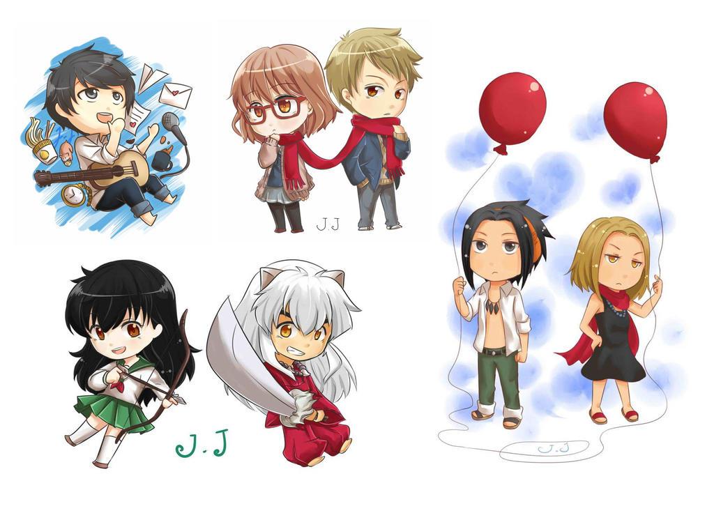 Chibi Couple plus ryo-kun by zerou