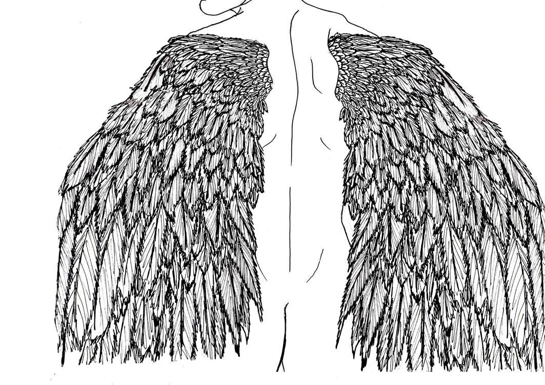 Line Drawing Angel : Angel line drawing by nagisa on deviantart