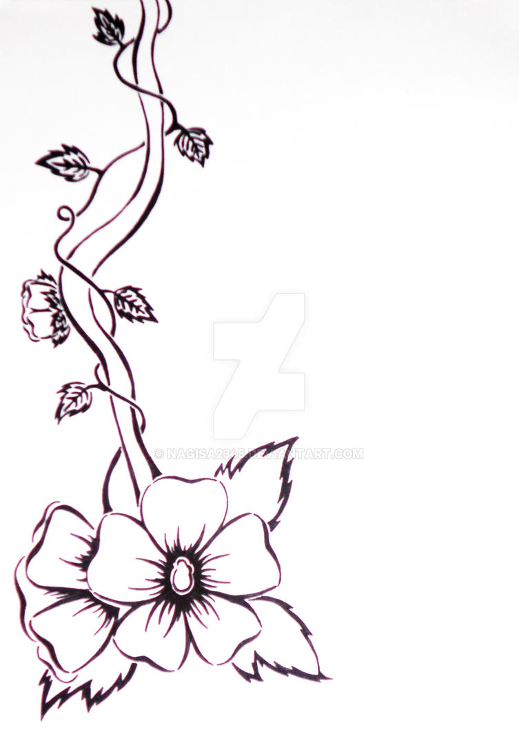 Black And White Flower Vine By Nagisa2345 On DeviantArt