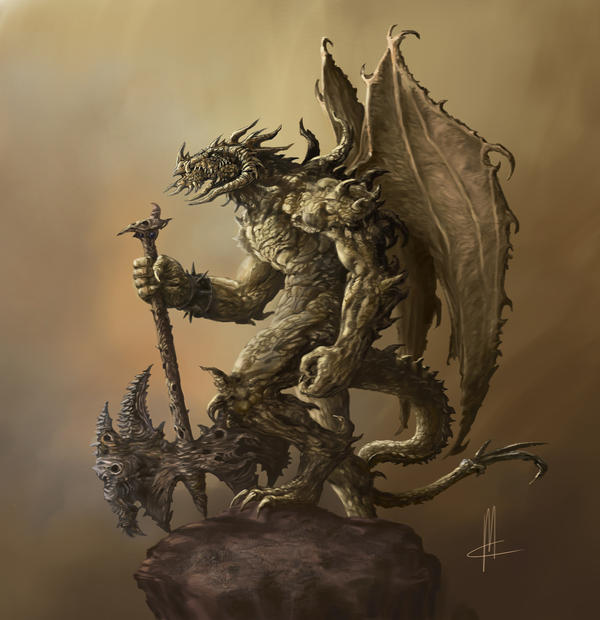 humanoid dragon_final by TheBeke
