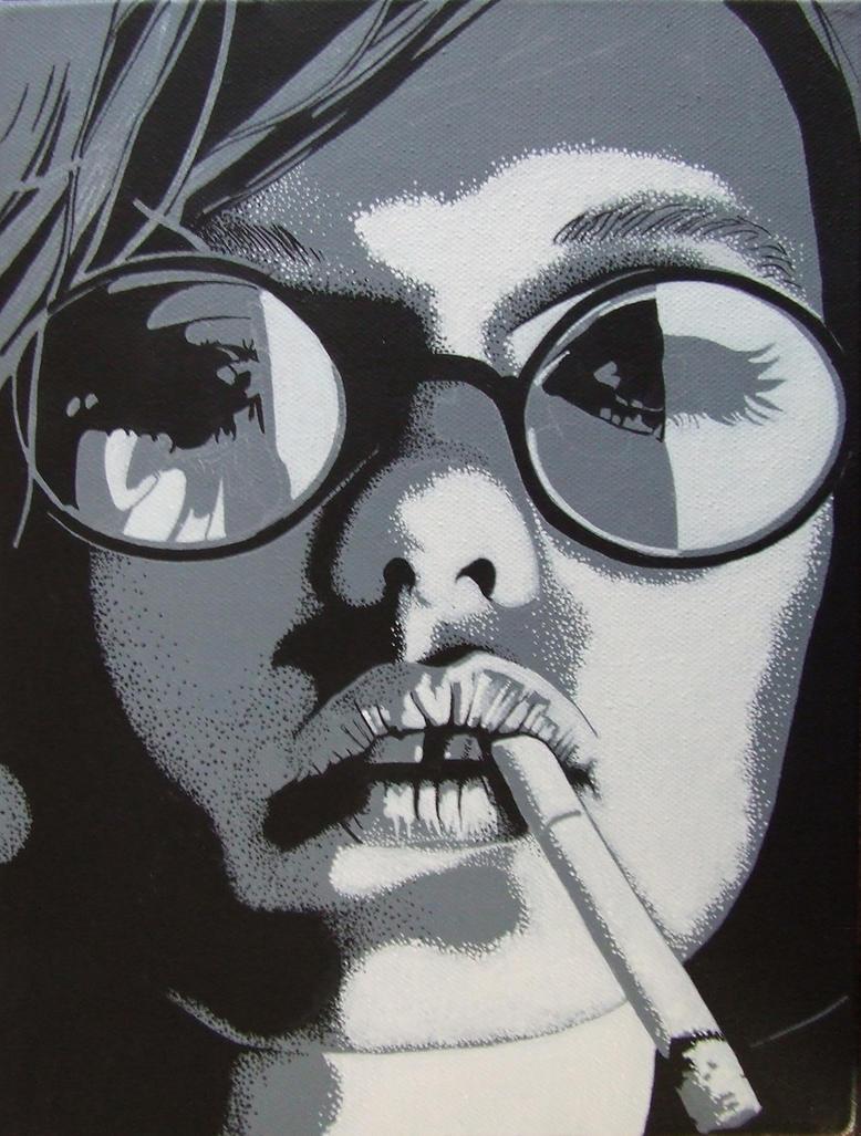 smoking lady 01 by daisy-01