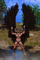 Black Winged Angel by SolomonBarroa