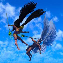 Angels Above by SolomonBarroa