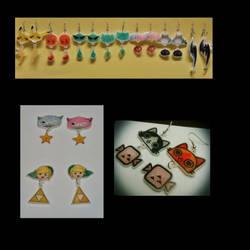Earrings of various genres