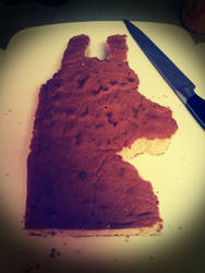 llama cake WIP by geekypnai